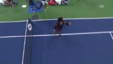 Link öffnet eine Lightbox. Video Serena Williams marschiert in die 2. Runde abspielen