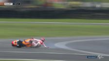 Link öffnet eine Lightbox. Video Marc Marquez stürzt im MotoGP spektakulär abspielen