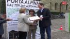 Laschar ir video «Petiziun Porta Alpina»