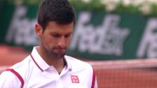 Link öffnet eine Lightbox. Video Djokovic verliert den 1. Satz gegen Bautista-Agut abspielen