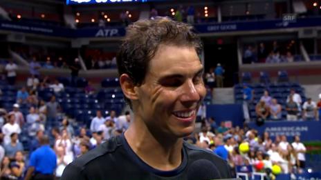 Link öffnet eine Lightbox. Video Nadals Premiere unter Dach abspielen