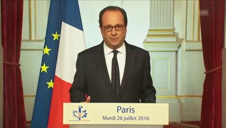 Link öffnet eine Lightbox. Video Auszüge aus Hollandes Rede (französisch) abspielen