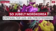 Link öffnet eine Lightbox. Video So feiern die Nordkoreaner ihre Fussball-Heldinnen abspielen