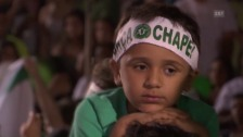 Link öffnet eine Lightbox. Video Trauer und Aufmunterung: Fan-Marsch für Chapeconese in Rio (sntv) abspielen