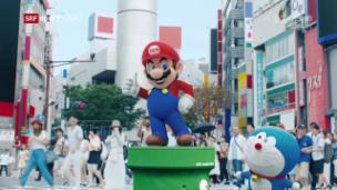 Video «Japans Premierminister Shinzo Abe als Super Mario unterwegs» abspielen