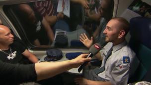 Video «Passagier im Gotthard-Zug: «Es ist eine wahnsinnige Aussicht»» abspielen