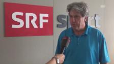 Video «SRF-Tennisexperte Bernhard Schär über Federers Zwangspause» abspielen