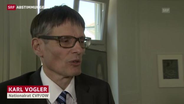 Video «Karl Vogler: Initiative ist unverhältnismässig und rechtsstaatlich bedenklich» abspielen