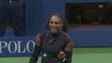 Link öffnet eine Lightbox. Video Der Matchball von Serena Williams abspielen