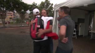 Video «Vater zu Schurter: «Jetzt bist Du im Olymp angekommen»» abspielen