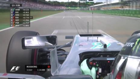 Link öffnet eine Lightbox. Video Rosberg schnappt sich die Pole in Hockenheim abspielen