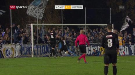 Link öffnet eine Lightbox. Video Köniz verpasst gegen Luzern den nächsten Cup-Coup abspielen