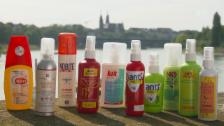 Link öffnet eine Lightbox. Video Antimücken-Sprays im Test: Nur 3 von 10 schützen gut abspielen