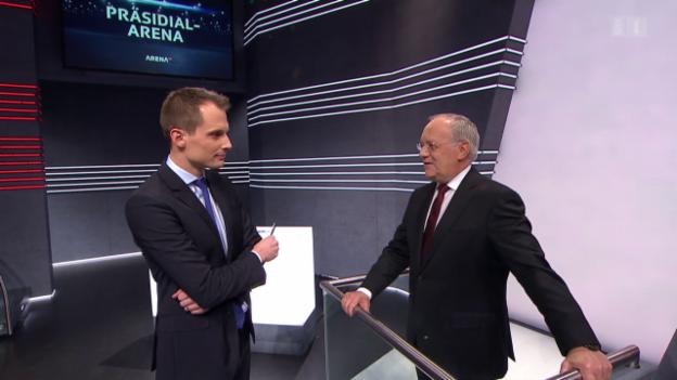 Video ««Präsidial-Arena»: Bundespräsident verbreitet Zuversicht» abspielen