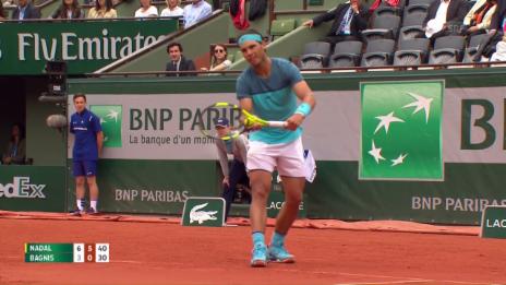 Link öffnet eine Lightbox. Video Entscheidende Punkte bei Nadal - Bagnis abspielen