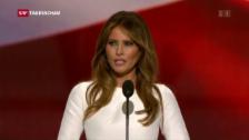 Link öffnet eine Lightbox. Video Melania (Trump) redet wie Michelle (Obama) abspielen