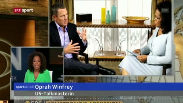 Video «Rad: Lance Armstrongs Doping-Beichte bei Oprah Winfrey («sportaktuell»)» abspielen