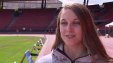 Link öffnet eine Lightbox. Video Noemi Zbären über ihre EM- und Olympiaziele abspielen