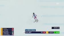 Link öffnet eine Lightbox. Video Lara Gut mit der Bestzeit in Garmisch-Partenkirchen abspielen