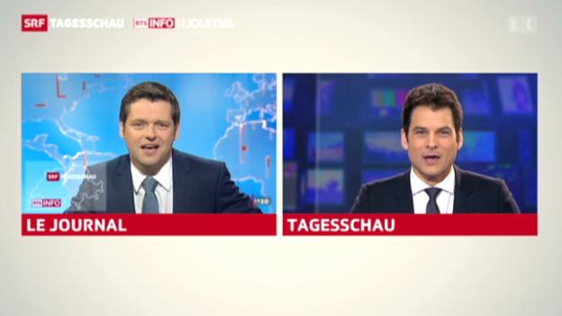 Video «Tagesschau mit Olivier Dominik (RTS)» abspielen