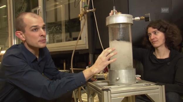 Video «Der Wasserdruck wird Druckluft - so funktioniert's» abspielen
