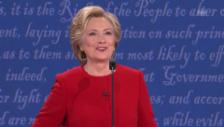 Link öffnet eine Lightbox. Video Clinton: «Nach Debatte bin ich an allem schuld» abspielen