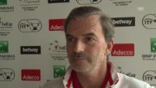Link öffnet eine Lightbox. Video Fed-Cup-Captain Heinz Günthardt vor der Partie gegen Deutschland abspielen