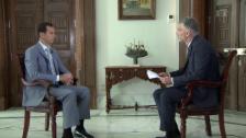 Link öffnet eine Lightbox. Video Sondersendung: «Rundschau»- Interview mit dem syrischem Präsidenten Assad abspielen.