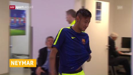 Link öffnet eine Lightbox. Video Neymar verlängert bei Barcelona abspielen
