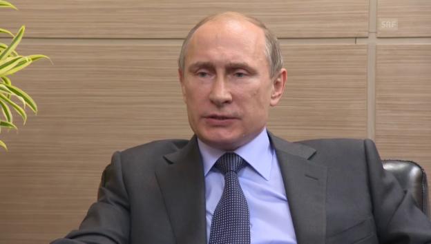 Video «Wladimir Putin im Exlusivinterview (französisch)» abspielen