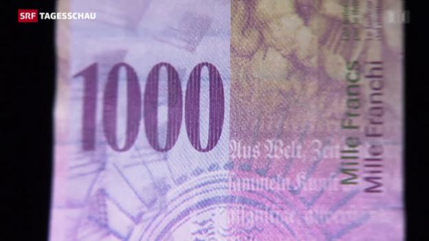 Video «Schweiz bleibt bei der 1000er-Note» abspielen