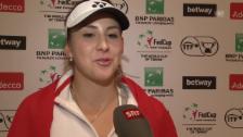 Link öffnet eine Lightbox. Video Belinda Bencic nach dem Halbfinal-Einzug im Fed Cup abspielen