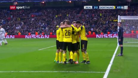 Link öffnet eine Lightbox. Video Die Live-Highlights bei Real - Dortmund abspielen