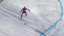 Link öffnet eine Lightbox. Video Aleksander Kilde verliert auf der Olympia-Strecke einen Ski abspielen