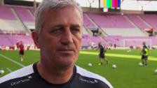 Link öffnet eine Lightbox. Video Nati-Coach Petkovic über die Vorbereitung und das Belgien-Spiel abspielen