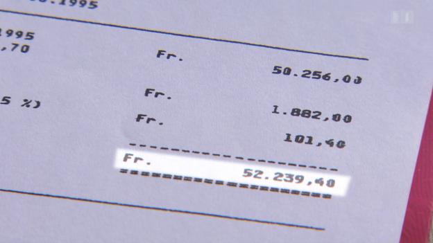 Video «Verlorenes Pensionskassengeld: Eine Bank sucht 50'000 Franken» abspielen