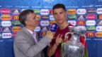 Video «Ronaldo albert rum und widmet den Titel ganz Portugal» abspielen