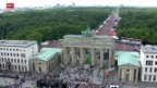 Video «Fussball: Weltmeister Deutschland in Berlin empfangen» abspielen