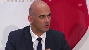 Video «Alain Berset: Entscheid stellt die Versorgung sicher» abspielen