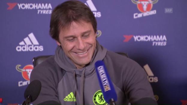 Video «Antonio Conte kämpft mit dem Mikrofon (sntv)» abspielen