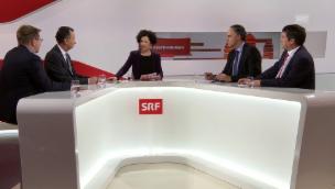 Video «Die Präsidentenrunde mit Brunner, Müller, Darbellay und Levrat» abspielen