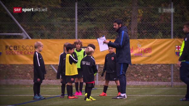 Video «Zukünftige Messis: Barça-Camp in Effretikon» abspielen