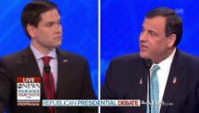 Link öffnet eine Lightbox. Video Christie gegen Rubio abspielen