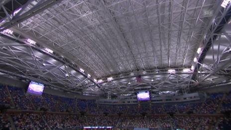 Link öffnet eine Lightbox. Video Premiere: Das Dach im Arthur Ashe Stadium wird geschlossen abspielen