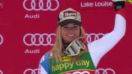 Link öffnet eine Lightbox. Video Lara Gut triumphiert im Super-G von Lake Louise abspielen