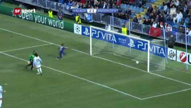 Video «CL: Malaga - Anderlecht» abspielen