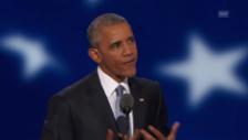 Link öffnet eine Lightbox. Video Obama lobt Clinton abspielen