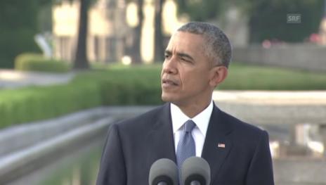 Link öffnet eine Lightbox. Video Obama: «Aus den USA und Japan wurden Verbündete und Freunde.» abspielen