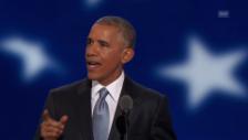 Link öffnet eine Lightbox. Video Obama kritisiert Trump abspielen