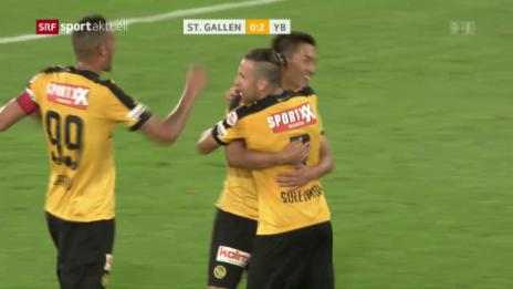Link öffnet eine Lightbox. Video YB feiert zum Saisoneinstand Sieg in St. Gallen abspielen